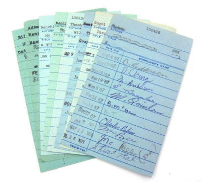 Paper library checkout slips